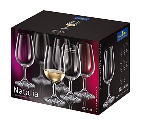 Bohemia Royal Crystal - Copa especial para catar vinos de 210 ml / Línea Gastro. Set de 6 copas. (210 ml)