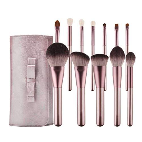 Beofine 12pcs Maquillage Pinceau Set Professionnel Doux Fibre Synthétique Fondation Crème Fard À Paupières Concealer Maquillage Pinceau Combinaison Kit pour Femmes Beauté Outil Cadeau