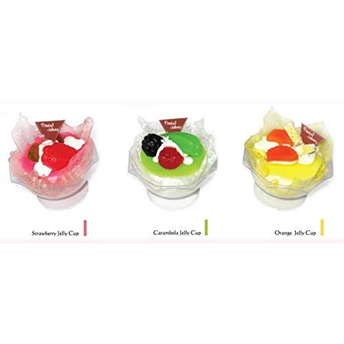 Lote de 24 Jabones en Forma de Tarrina de Helado 115 Gr Pastel Cupcake - Jabón, jabones originales para Detalles, Recuerdos y Regalos de Bodas Invitadas