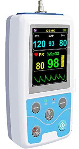 Langzeit Blutdruckmessgerät 24 Stunden mit SpO2 Sensor - farbige Darstellung der Geräteauswertung in DEUTSCH - für Ärzte und Privatpersonen