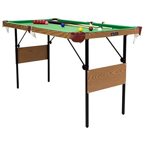 Charles Bentley Snooker-Billardtisch - Snookerkugeln & gelbe Poolbillard-Kugeln - 1,39 m