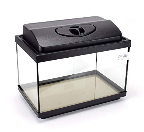 GarPet Aquarium Komplett Set rechteckig mit LED Abdeckung Filter Heizer Aquariumset (40x25x25 Set LED)