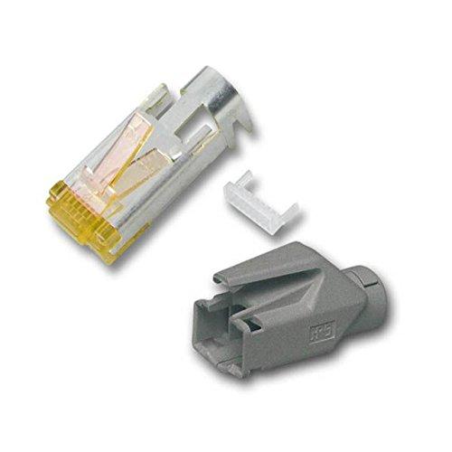 BIGtec 20 x RJ45 Stecker TM31 Hirose CAT.6a grau Crimpstecker RJ-45 Modular Plug Ethernet LAN Kabel Steckverbinder Netzwerkstecker geschirmt CAT 6a