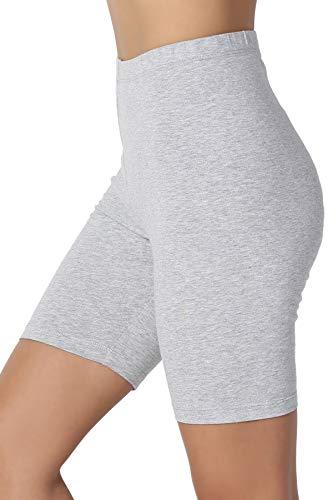 TheMogan Cotton Mid Thigh High Waist Active Shorts