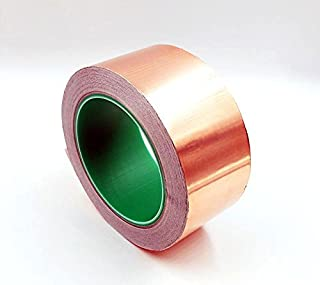 MAHAO Copper Foil Tape - with Conductive Adhesive - Slug & Snail Repellent, Guitar, EMI Shielding, Electrical Repair, Stained Glass (25mm x 4Meter - (1