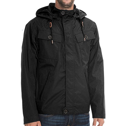 Timberland Hombre Chaqueta impermeable Chaqueta Mount Clay Cargo (Medium, Negro)