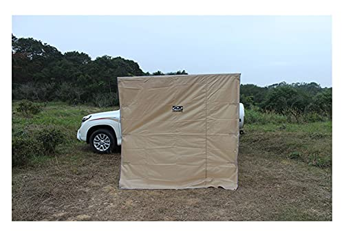 Car Side Awning Car Side Awning Roof Top Tent Awning for Car 4wd Waterproof Side Car Tent Sunshelter Outdoor (Color : 3pcs of Cloth Khaki)