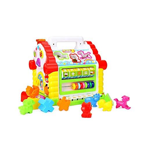 Pkjskh Fun Hütte Multifunktionsspielzeug Form Block Pairing Einzigartige 8 Arten von elektronischen Tastatur Sound Musik Begleitung Kind Frühes Lernen Eltern interaktives Spielzeug Kinder Urlaub Gebur
