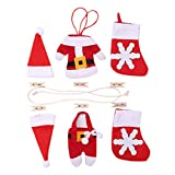 ODJOY-FAN 1 Set Weihnachten Fahne Ziehen Weihnachten Ziehen Flagge Kamin Dekoration Weihnachten DIY Flagge 12x9cm Das Seil ist 100cm lang(Rot,1 PC)