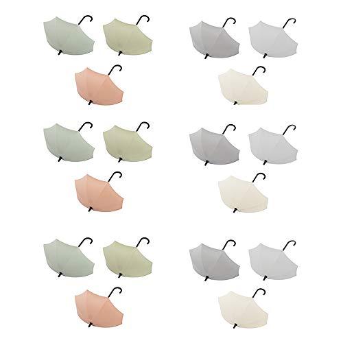 Guanici Regenschirm Selbstklebend Wandhaken Schlüsselhaken Klebehaken zum Aufhängen Regenschirm wasserdichte Kunststoff Haken für Küche Bad Wand, Handtuchhaken Kleiderhaken Schlüsselaufhänger 18 Stück