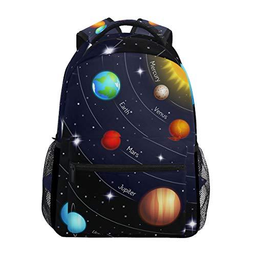 JOYPRINT Backpack Universe Space Galaxy Solar System Shoulder Bag Daypack Travel Hiking for Boys...