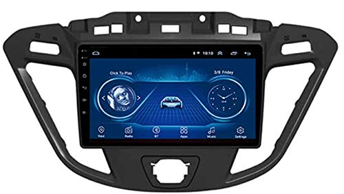 LINGJIE Android Auto Stereo Radio Double Din Sat NAV für Ford Custom/Transit 2013-2018 Navi 9 Zoll Sat NAV Touchscreen Multimedia Player Video Receiver mit 4G RDS DSP