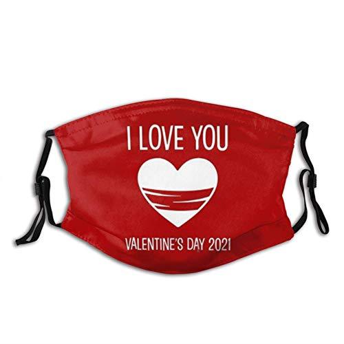 Máscara facial de San Valentín para boda, lavable y reutilizable con 2 filtros, para el trabajo y la escuela