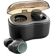 Antimi Bluetooth Kopfhörer,Bluetooth 5.0 Stereo-Minikopfhörer IPX6 Wasserdicht Kopfhörer in Ear mit Drahtlos Ladestation Tragbar Ladebox und Integriertem Mikrofon für Android und iPhone