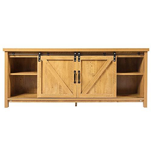 Dfghbn Gabinete De TV Muebles de la Sala de Estar de la Estructura Estable de Madera Muebles de la Sala de Estar de Madera Maciza con Puerta de la Puerta corredera de la Puerta