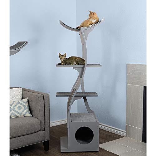 The Refined Feline Lotus Tall Modern Cat Tree