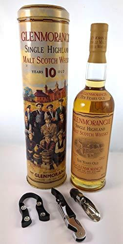 Glenmorangie 10 year Old Single Malt Whisky in Sixteen Men of Tain Presentation Tube en una caja de regalo con tres accesorios de vino, 1 x 700ml