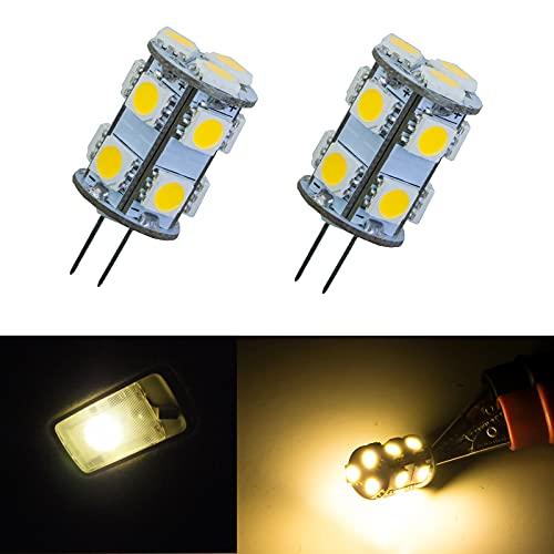 PA 2 x G4 13 SMD 5050 Ampoule LED DC 12 V Blanc Chaud 3000 K Cabinet RV G4 spot