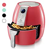 Ultrean Air Fryer, 4.2 Quart (4 Liter) Electric Hot Air Fryers Oven Oilless Cooker with LCD Digital Screen and Nonstick Frying Pot,UL Certified,1-Year Warranty,1500W (Red)