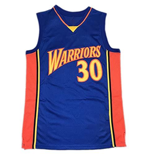 DFKGL Jerseys de Baloncesto de los Hombres, Goldén Státe Wárriors Stéph Cúrry # 30, F Retro Unisex Bordado Basketball Jerseys Sin Mangas Tops Deportivos (S-XXL) Blue-XL