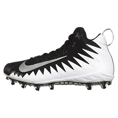 Nike Alpha Menace Pro Mid voetbalschoenen, breed, wit/zwart, maat 16 US