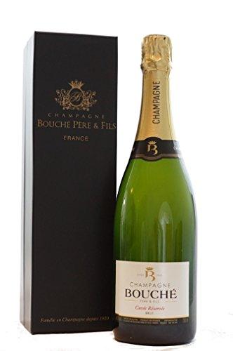 Bouché Père & Fils Champagner mit Geschenkverpackung - Cuvée Réservée Brut (1 x 0.75 l) + Exklusiver Champagner Box