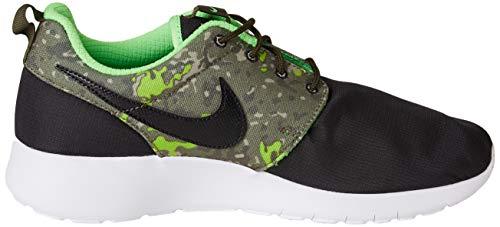 Nike Roshe One Print GS 677782-008, Zapatillas Unisex Adulto, Negro/Marrón (Black/Black-CRG Khaki-grn Strk), 40 EU