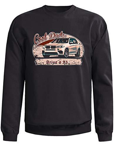 All-Torque Cool Dads Rijden een X5 Auto Heren Sweatshirt