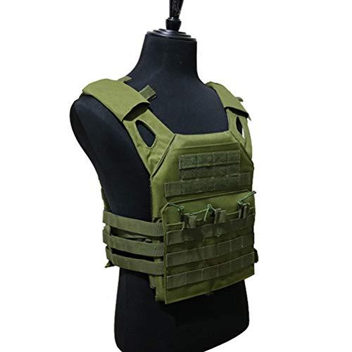 Jpc Tactisch outdoor-multifunctioneel vechtvest paintball beschermplaat draagvest luchtgeweer vest legergroen