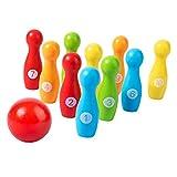 Colcolo Juego de Bolos para niños, Juguetes educativos para niños pequeños, Bolas de Bolos de Colores para Interiores con números, Juguetes de Desarrollo,