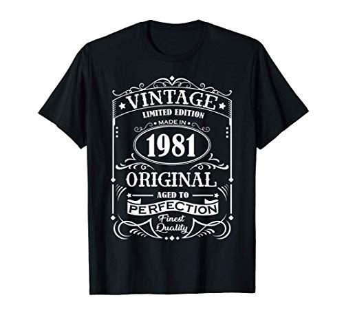 Vintage 1981 Geburtstag Original Jack Whisky 40 Jahre T-Shirt