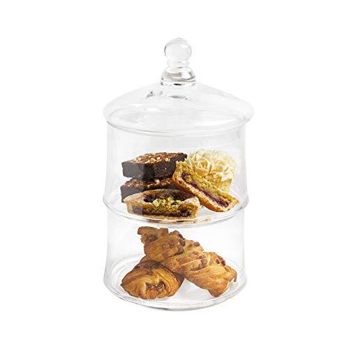 ARTESÀ Kitchen Craft Tarro con Tapa (Cristal, 2 Compartimentos)