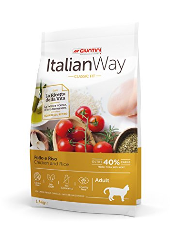 Italian Way Cibo per Gatti Classic Fit Pollo e Riso - Adult - 8 kg