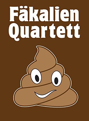 GOODS+GADGETS Fäkalien Quartett - Das extrem scheiße Kartenspiel rund um das stille Geschäft - Das WC & Toiletten Kackspiel