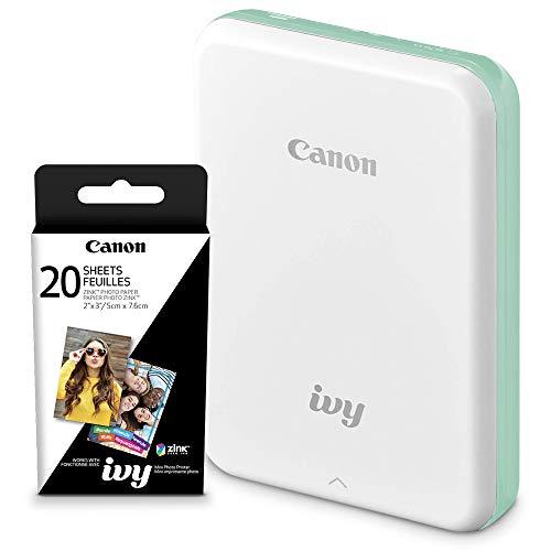 Canon Ivy Mini Mobile Photo Printer (Mint Green) with Canon 2 x...