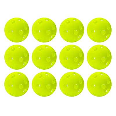 Franklin Sports Foam Golf Balls– Official Size– Indoor or Outdoor Golf Training– Restricted Ball Fight for GolfPractice – 12 Pack–OpticYellow - Backyard Training