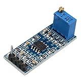 HALJIA LM358 Modulo di amplificazione operazionale del modulo di chip LM358 con amplificatore di segnale 100 volte DC5-12V con resistenza regolabile 10K