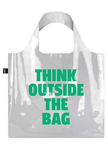 LOQI LOQI TRANSPARENT Think Outside the Bag - Borsa da viaggio con manico, 50 cm, Think Outside The Bag