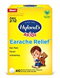 Swimmers Ear Relief Tablets for Kids by Hyland's, Fast Natural Homeopathic Pain Relief of Cold & Flu Earaches, Swimmers Ear, and Allergies, 40 Tablets