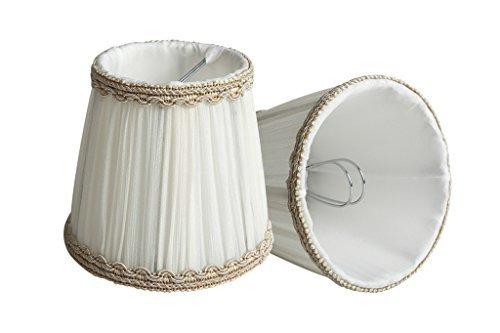 Style Européen Clip-on Abat-jour A Pince en Tissu Handmade par Splink pour Bougie Lustre Lampe de Table Applique Murale 85 * 120 * 110mm Lot de 2