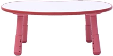 Children's Study Table Table Kids' Children's Desk for Preschoolers Boys and Girls Activity Build & Play Table Boy and Girl Study Table (Color : Red, Size : Free Size)