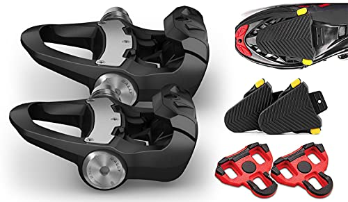 Garmin Rally RK200 Dual-Sensing Power Meter Bike Pedals Bundle   Includes Road Cleat Protective Covers (2-Pack)   LOOK KEO Cleats   Power, Cadence & Left/Right Balance   2021 Power Meter, 010-02388-00