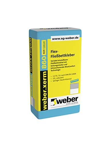 weber.xerm 860 BlueComfort Flex-Fließbettkleber 25 kg Flexkleber Fließkleber Kleber Mörtel