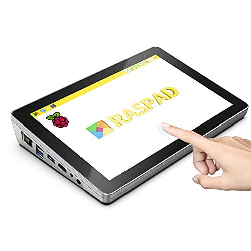 """SunFounder RasPad 3.0 - an All-in-One Raspberry Pi 4B Tablet with a Built-in Battery, 10.1"""" Touchscreen, and onboard Audio for IoT/Progamming/Gaming/3D Printing Projects"""