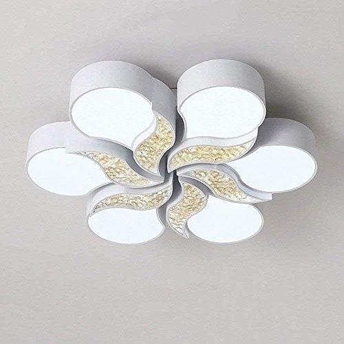 MKKM Candelabro, Ventilador de techo de hierro de 47.24 pulgadas Ventilador de techo clásico con 5 aspas de madera marrón 5 Candelabros de vidrio y bombillas colgantes en forma de domo [Clase energét