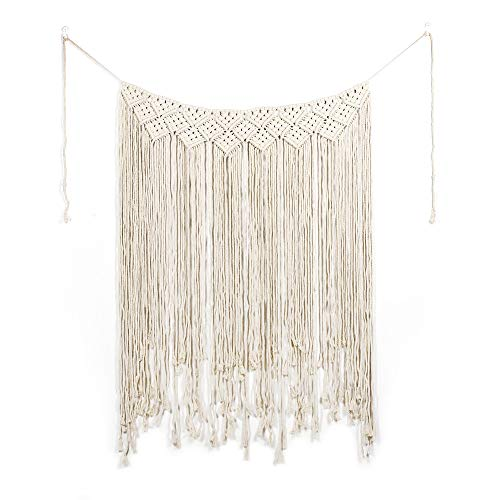 wewewin Woven Wall Hanging Boho Wall Pediments Macrame Tapestry Wall Art Large Window Hanging 100% Handmade Bohemia Wall Hanging Décor