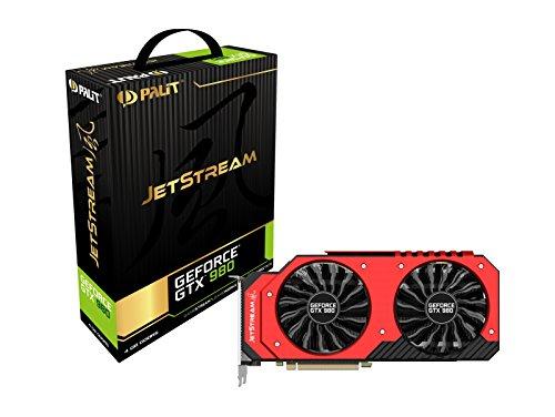 Palit NE5X980014G2J Nvidia 980 Jetstream Grafikkarte (PCI-e 4096, GDDR5, HDMI, DVI, Displayport 1 GPU)