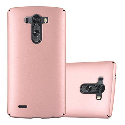 Cadorabo Funda para LG G3 en Metal Oro Rosa - Cubierta Protección de Plástico Duro Super Delgada e Inflexible con Antichoque - Case Cover Carcasa Protectora Ligera