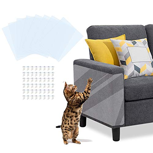 Kratzschutz für Haustiere, transparent, für Hund und Katze, Krallenschutz für Möbel, Couch, selbstklebend, 8er-Pack, 43,2 cm Länge x 30,5 cm Breite