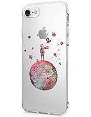 Oihxse Compatibile per Cover iPhone 8/7 Cover iPhone SE(2020), Trasparente Custodia in Silicone con Protezione Flessibile e TPU di Alta Case Antiurto Antigraffio Morbido Ultra Slim (rosso)